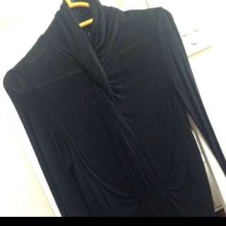 BCBG draped polo top