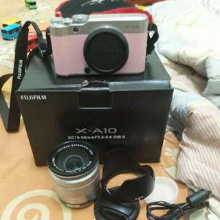 Fujifilm xa10 kit xc 16-50mm+ sd 16gb pink