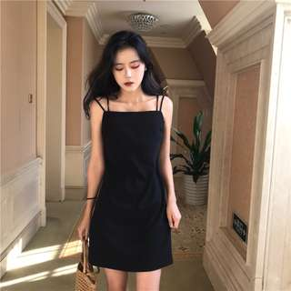 PO: Minimalistic Dual-Strip Dress