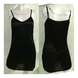 SALE preloved small black adjustable camisole / nighties