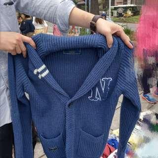 🚚 針織外套 Navy 粗織