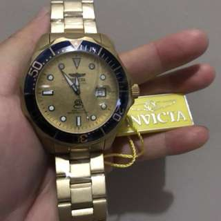 Jam Tangan Invicta Original Gold
