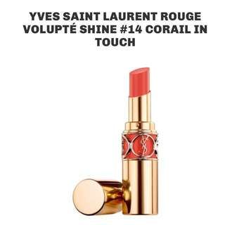 YSL Yves Saint Laurent Rouge Volupte Shine #14 Corail In Touch