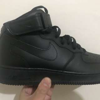 Promo Jual Rugi Nike Air Force 1 Mid 07 All Black Size 41