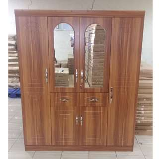 4 door wardrobe with mirror tailee wd-441