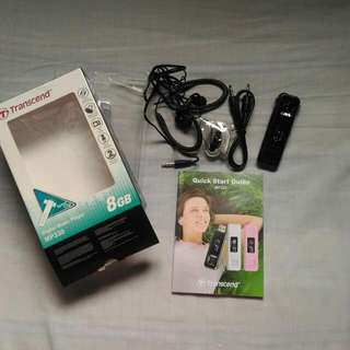 Transcend Mp3 8gb Complete Inclusions