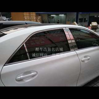 Toyota mark x door pillar chrome stainless steel