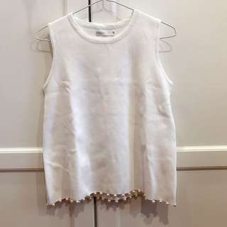 Pearl Knit Top (White)