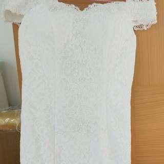 簡單魚尾婚紗禮服
