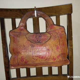 Tote Bag Leather Handmade Unbrand