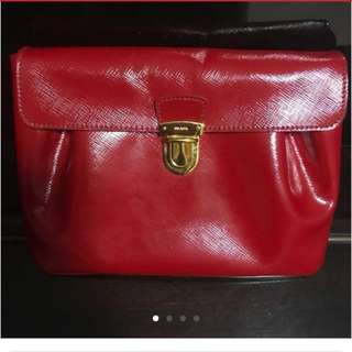 POST CNY SALES 🍊🍊Red Prada Clutch 🍊🍊
