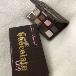 (New) Too Faced Matte Chocolate Chip Eyeshadow Palette