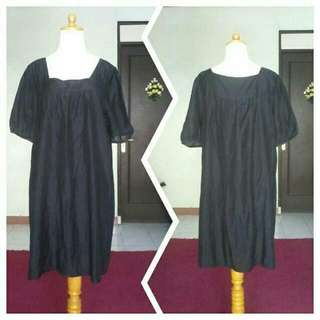 DRESS YORK BOUTIQUE _ KATUN LEMAS HITAM LAPIS FURING FIT M