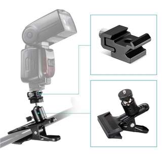 Pxel AACT2 Spring Clamp Metal Ball Head Hot Cold Shoe Mount Clip
