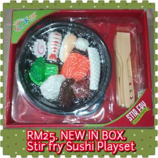 NEW IN BOX Sushi Stir Fry set