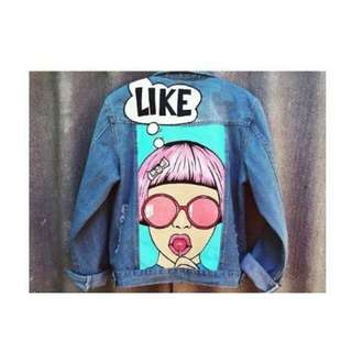 🆓 Pop art jaket jeans