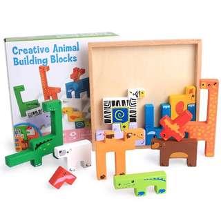 Creative animal building blocks