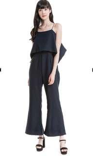 Bnwt Color block flare jumpsuit