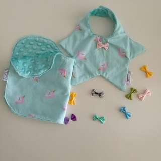 Baby bib & burp cloth