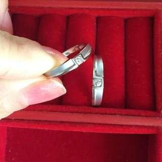 謝瑞麟情侶鑽石戒指