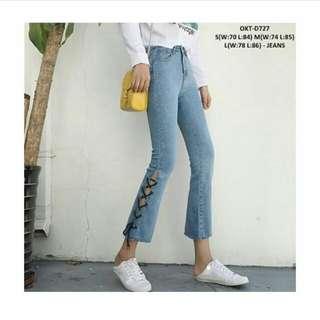 🆓 lace jeans