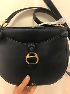 Ralph Lauren long strape leather bag