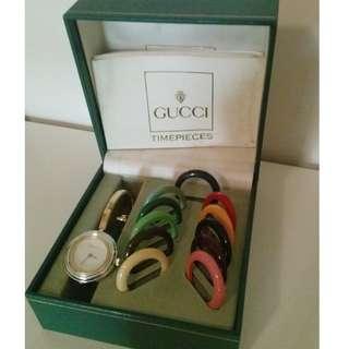 Gucci 手錶 98%new (可換錶圈,有12個顏色)
