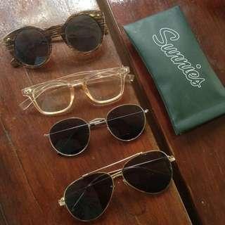 Lot of 4 Sunglasses Sunnies Studios