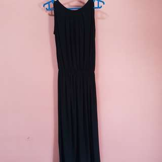 Brand new simple black dress. Ribbon tie detail at the back of the neck.