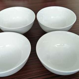 Restaurant quality, thick porcelein bowl, 15cm diameter, set of 4pcs,