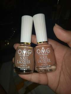OMG Nail Polishes in Sunny Tan and Touch of Tan