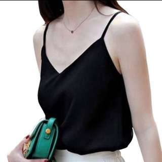 Sleeveless blouse - V neck