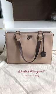 Authentic Salvatore Ferragamo Leather Bag