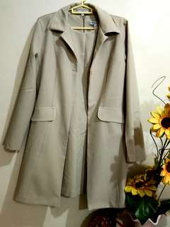 Rampage USA Beige Dress and Long Coat