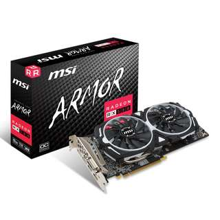200PCS MSI RX580 8GB ARMOUR OC EDITION