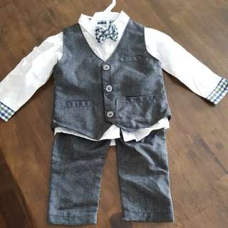 BN boy's shirt vest and pants 12 to 18months