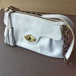 Tocco White Leather Bag