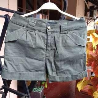 Green Army Shorts