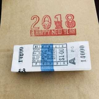 Vintage Tickets - 10 pieces
