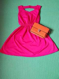 Pinky sexy back dress fit L kcl