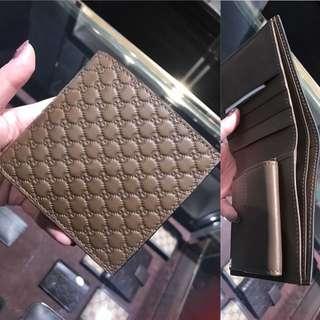 Gucci men brown wallet