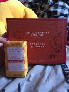 FIXED PRICE - Crabtree & Evelyn Hand Trio and Soap