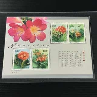 China Stamp - 2000-24M 君子兰 小全张 / 小型张 中国邮票 2000-24