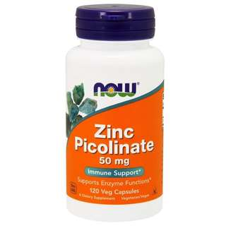 Now Foods Zinc Picolinate 50mg 120 Veg Capsules