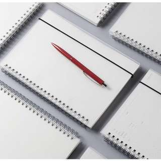 Dotted, Blank, And Grid Muji Notebook (A5 size)