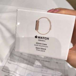 (99%new) 🌸Apple watch 3 pink x gold 42mm