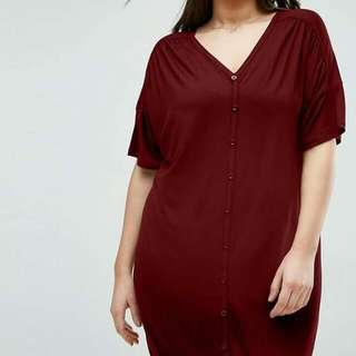 Button-up Plus Size Dress