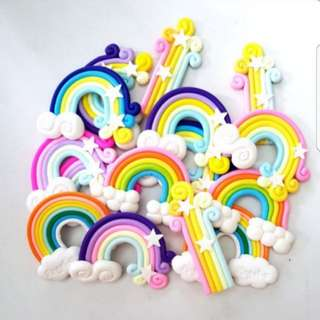 Rainbow silicon toppers for cake/cupcake decoration