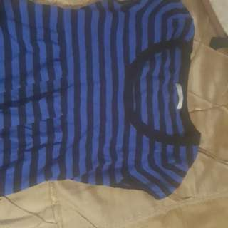 Black and blue sweater