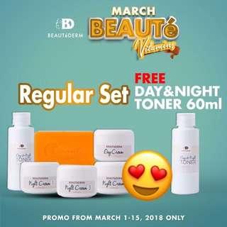 FREE TONER with Every Beautederm Regular Set